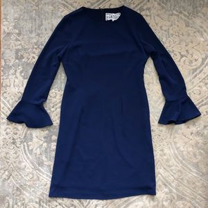 Pink Martini Navy dress bell sleeves